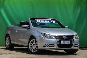 2010 Volkswagen EOS 1F MY09 147TSI DSG Silver 6 Speed Sports Automatic Dual Clutch Convertible Ringwood East Maroondah Area Preview