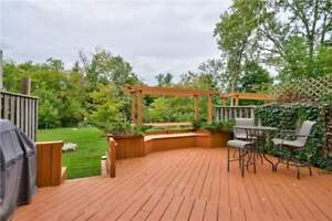 Stunning 4 Bdrm Townhome Backing Onto Picturesque