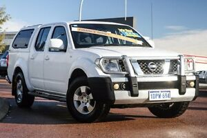 2011 Nissan Navara D40 S6 MY12 ST White 5 Speed Sports Automatic Utility East Rockingham Rockingham Area Preview
