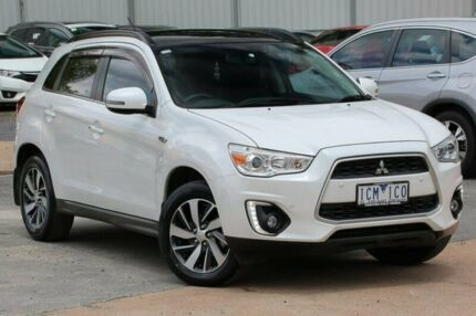 2014 Mitsubishi ASX XB MY15 XLS 2WD White 6 Speed Constant Variable Wagon Ferntree Gully Knox Area Preview