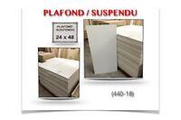 "(440-18)  LIQUIDATION..  "" PLAFOND-SUSPENDU "" ( 24""x 48"") 2.99$"
