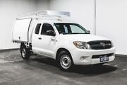 2006 Toyota Hilux GGN15R MY05 SR Xtra Cab 4x2 White 5 Speed Automatic Utility Welshpool Canning Area Preview