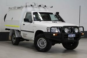 2010 Nissan Patrol GU MY08 DX (4x4) White 5 Speed Manual Cab Chassis Bentley Canning Area Preview