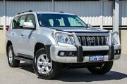 2010 Toyota Landcruiser Prado KDJ150R GXL (4x4) Silver 5 Speed Sequential Auto Wagon Cannington Canning Area Preview