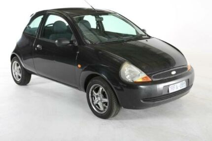 2001 Ford Ka TB Black 5 SPEED Manual Hatchback Melbourne CBD Melbourne City Preview