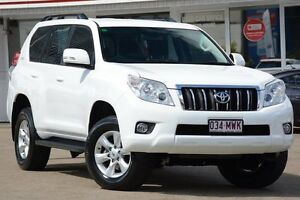 2010 Toyota Landcruiser Prado KDJ150R GXL White 5 Speed Sports Automatic Wagon Woolloongabba Brisbane South West Preview