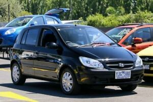2010 Hyundai Getz TB MY09 S Black 4 Speed Automatic Hatchback Ringwood East Maroondah Area Preview