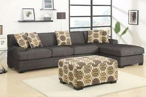 BRAND NEW!  Black Ash Large Sectional Sofa!Available  in Kamloops