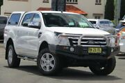 2013 Ford Ranger PX XLT Double Cab White 6 Speed Sports Automatic Utility Nundah Brisbane North East Preview