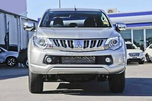 2015 Mitsubishi Triton MQ MY16 GLS Double Cab Silver 5 Speed Sports Automatic Utility South Kalgoorlie Kalgoorlie Area Preview