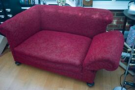 Antique Victorian drop-arm sofa