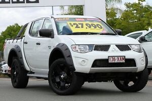 2012 Mitsubishi Triton MN MY12 GL-R Double Cab White 4 Speed Automatic Utility Springwood Logan Area Preview