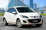 2011 Mazda 2 DE10Y2 MY12 Neo White 4 Speed Automatic Hatchback Myaree Melville Area Preview