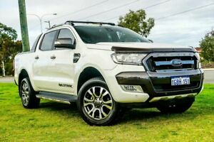 2016 Ford Ranger PX MkII Wildtrak Double Cab White 6 Speed Sports Automatic Utility Wangara Wanneroo Area Preview