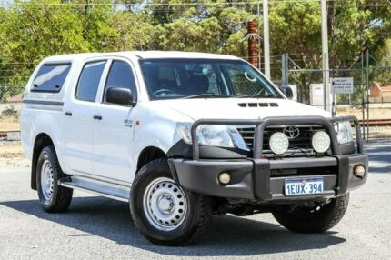 2015 Toyota Hilux KUN26R MY14 SR Double Cab White 5 Speed Automatic Utility Gosnells Gosnells Area Preview
