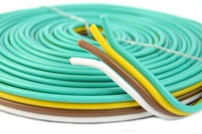 Flat Rewire Trailer Wire Light Cable 14 Ga 4 Way - 25 Ft Bonded