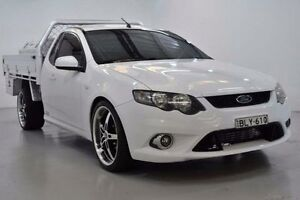 2009 Ford Falcon FG XR6 White Sports Automatic Cab Chassis Lansvale Liverpool Area Preview