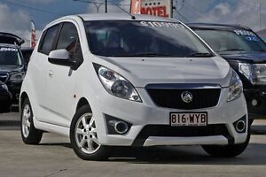2011 Holden Barina Spark MJ MY11 CD White 5 Speed Manual Hatchback Hillcrest Logan Area Preview