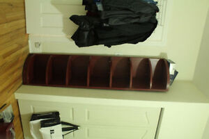 all solid wood book shelf and three lamps for sell