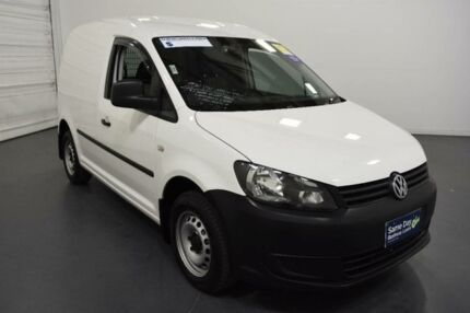 2014 Volkswagen Caddy 2K MY14 TDI250 White 7 Speed Auto Direct Shift Van Moorabbin Kingston Area Preview