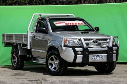 2007 Toyota Hilux KUN26R 07 Upgrade SR (4x4) Silver 5 Speed Manual Cab Chassis Ringwood East Maroondah Area Preview
