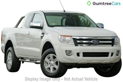 2014 Ford Ranger PX XLT Super Cab White 6 Speed Manual Utility Wangara Wanneroo Area Preview