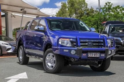 2014 Ford Ranger PX XLT Double Cab Blue 6 Speed Sports Automatic Utility Noosaville Noosa Area Preview