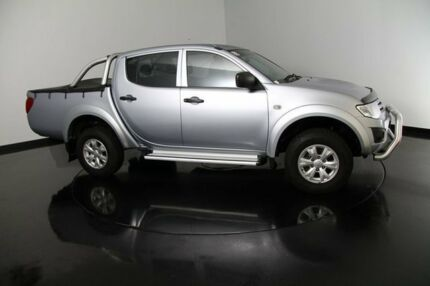2013 Mitsubishi Triton MN MY13 GLX Double Cab White 5 Speed Manual Utility Welshpool Canning Area Preview