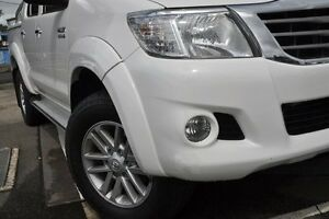 2013 Toyota Hilux KUN26R MY12 SR5 (4x4) White 4 Speed Automatic Dual Cab Pick-up Dee Why Manly Area Preview