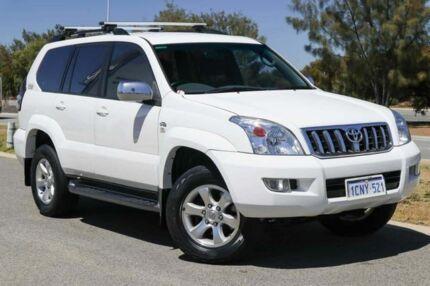 2007 Toyota Landcruiser Prado KDJ120R GXL White 5 Speed Automatic Wagon Clarkson Wanneroo Area Preview