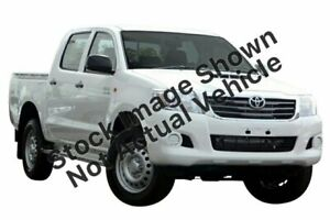 2013 Toyota Hilux KUN26R MY14 SR (4x4) Glacier White 5 Speed Manual Dual Cab Pick-up Rockingham Rockingham Area Preview