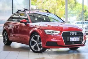 2017 Audi A3 8V MY17 Sportback S tronic Red 7 Speed Sports Automatic Dual Clutch Hatchback Osborne Park Stirling Area Preview