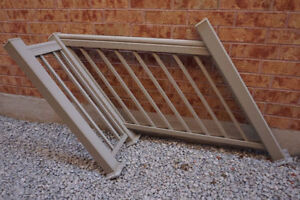 PORCH RAILING - ALUMINUM MINT CONDITION- BARELY USED ONLY $125
