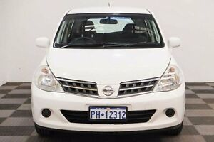 2012 Nissan Tiida C11 S4 ST White 4 Speed Automatic Hatchback Edgewater Joondalup Area Preview