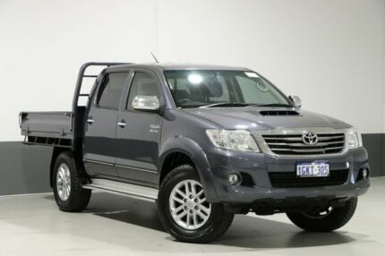 2014 Toyota Hilux KUN26R MY14 SR5 (4x4) Grey 5 Speed Automatic Dual Cab Pick-up Bentley Canning Area Preview