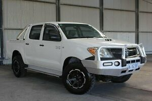 2008 Toyota Hilux KUN26R MY09 SR White 4 Speed Automatic Utility Invermay Launceston Area Preview