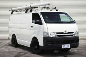 2010 Toyota Hiace KDH201R MY10 LWB White 5 Speed Manual Van