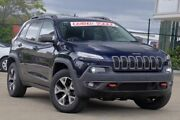 2014 Jeep Cherokee KL Trailhawk Blue 9 Speed Sports Automatic Wagon Jamboree Heights Brisbane South West Preview