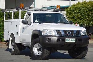 2011 Nissan Patrol GU 6 Series II DX White 5 Speed Manual Cab Chassis Acacia Ridge Brisbane South West Preview