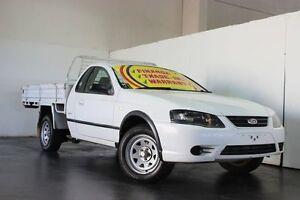 2006 Ford Falcon BF MkII RTV White 4 Speed Auto Seq Sportshift Cab Chassis Underwood Logan Area Preview