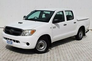 2008 Toyota Hilux White Manual Utility Embleton Bayswater Area Preview