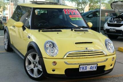 2005 Mini Hatch R53 MY05 Cooper S Chilli Yellow 6 Speed Manual Hatchback Belconnen Belconnen Area Preview