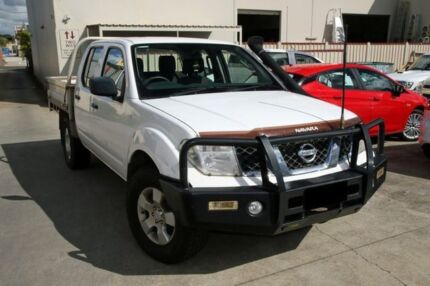 2011 Nissan Navara D40 MY11 RX White 5 Speed Automatic Cab Chassis