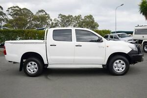 2013 Toyota Hilux KUN26R MY12 SR Double Cab White 5 Speed Manual Utility Acacia Ridge Brisbane South West Preview