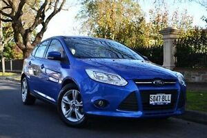 2012 Ford Focus LW MKII Trend PwrShift Blue 6 Speed Sports Automatic Dual Clutch Hatchback Thorngate Prospect Area Preview