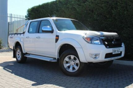2010 Ford Ranger PK XLT Crew Cab White 5 Speed Automatic Utility Wayville Unley Area Preview