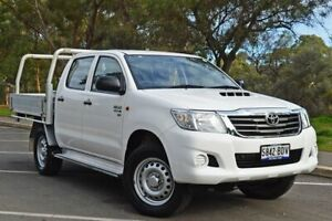 2015 Toyota Hilux KUN26R MY14 SR Double Cab White 5 Speed Automatic Utility Medindie Walkerville Area Preview