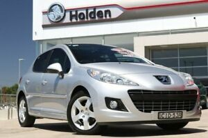 2011 Peugeot 207 A7 Series II MY10 Sportium Silver 4 Speed Sports Automatic Hatchback