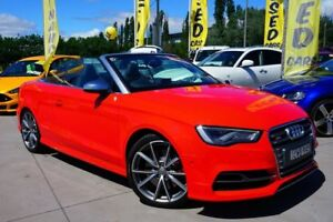2014 Audi S3 8V MY15 S tronic quattro Red 6 Speed Sports Automatic Dual Clutch Cabriolet