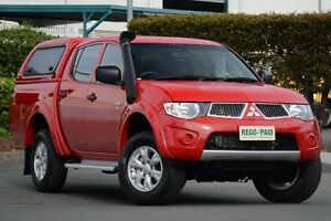 2012 Mitsubishi Triton MN MY12 GL-R Double Cab Red 4 Speed Automatic Utility Acacia Ridge Brisbane South West Preview